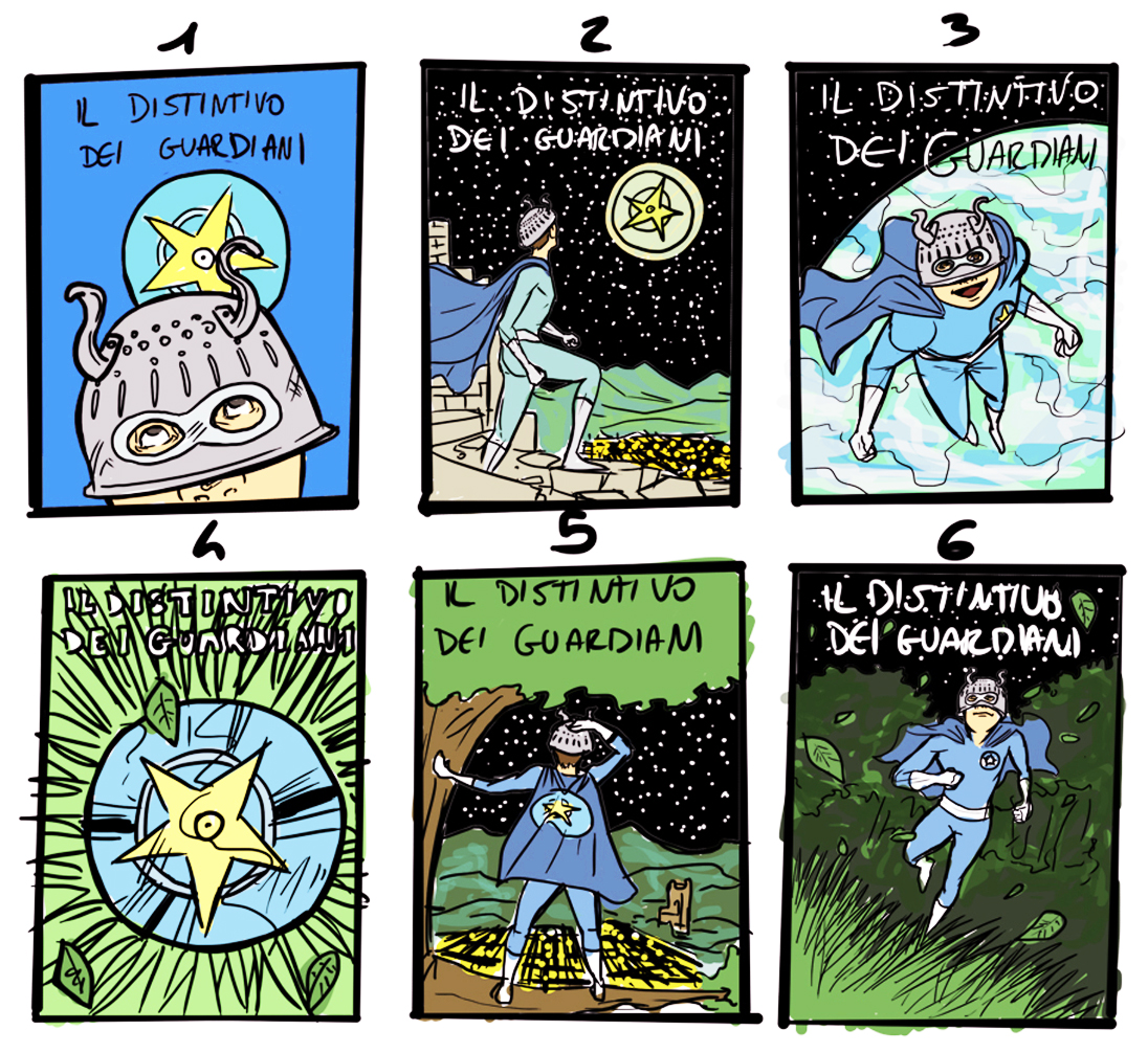 fumetto distintivo dei guardiani